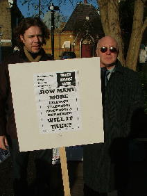 John Macklin with Walthamstow Safer Streets' Roger Carter - the landlord of the Nags Head pub.