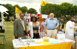 Cllr Farooq Qureshi with Leyton councillors Winnie smith and Bob Sullivan
